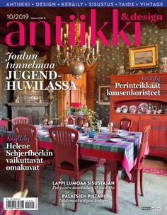 antiikki & design 10/2019 - Google Search Magazine Design, Finland, Google Search, Antiques, Vintage, Antiquities, Antique, Vintage Comics, Old Stuff