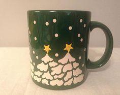 Waetchersbach Germany Green Christmas Tree Mug with Yellow Star