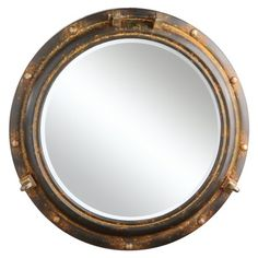 Creative Co-Op Porthole Mirror, Rust Metal - A very good product for a fair price.This Creative Co-op that is ranked 245997 in the top most popular items in Ama Porthole Mirror, Wall Mirror, Rusted Metal, Nautical Bathrooms, Upholstered Arm Chair, Creative Co Op, Mirrors Online, Frames On Wall, Framed Wall