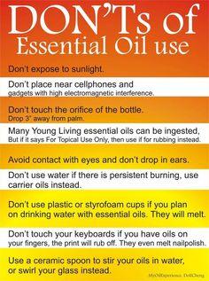 Essential Oil No No's