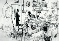Charles Avery The Hunter's Cabin 2004 Pencil on paper 91 x 66 cm © Charles Avery. Courtesy of the artist and Pilar Corrias, London and Grimm...Year after year : Opere su Carta UBS Art Collection  - Galleria d'Arte Moderna di Milano 2014 #miart2014 #UBS