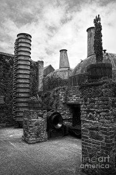 Copper Pot Stills And Column Still At Lockes Distillery Bw Photograph by RicardMN Photography