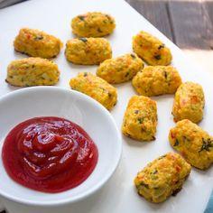 Skinny Baked Cauliflower Tots - skip salt altogether