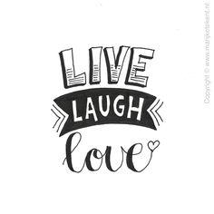 Live love laugh typography