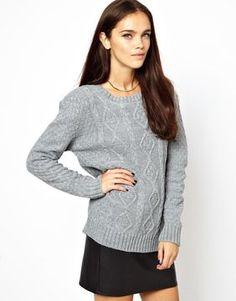 Glamorous Aran Knit Boyfriend Sweater