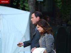 Actors Tim DeKay and Tiffani Thiessen On set, 1st October #whitecollarseason5