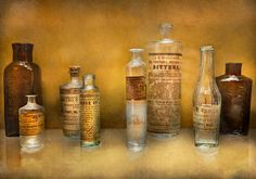 Essences of all sorts of odd oils. Lots of promises, lots of cures, lots of uses. Sold even today, for the same illnesses. If it works use it, just don't get it in your eye. Unless it's to cure eye problems.