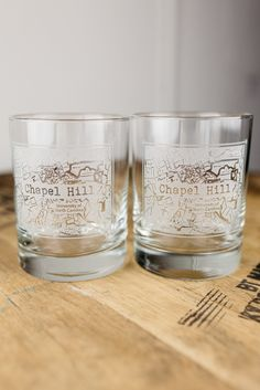Chapel Hill College Town Rocks Glass Set   Other college towns... 42 a set