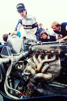 F1 The 900 hp (671 kW) BMW M12-13 motor that powered the 1983 Brabham BT53.
