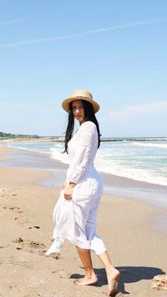 #beachgirl #whitedress #beachdress