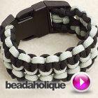 Tutorial - Videos: How to Make a Wide (Double) Cobra Paracord Bracelet | Beadaholique