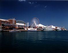 Navy Pier, attractions in Chicago, Ferris Wheel, Pier Park