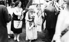 Annie Besant and Cornerstone ceremony at Helsinki, Finland 1927.