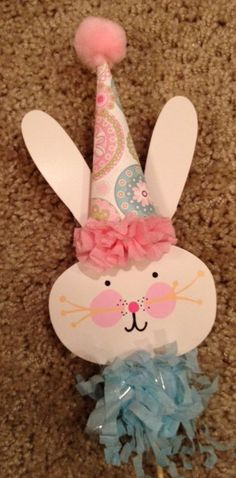 Easter Bunny Decorative Wand or Cake Topper Easter