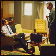 manfromuncle:  Even top CIA agents have to listen to their bosses. Jared Harris stars as Sanders in The Man from U.N.C.L.E.  Just look at those legs!!!!!
