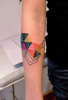 Not too much into colour tattoos but this one I like