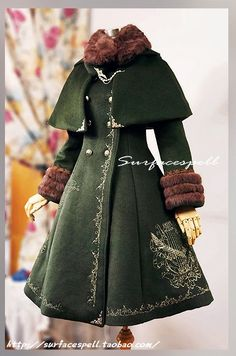 Lolibrary   TaoBao - Coats - Surface Spell Ship Bound for Fairyland Golden Heraldic Embroidery Woolen Coat with Cloak