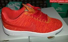 Nike Air-Force 1 Flyknit Low Orange