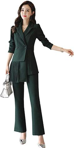 WZW Womens 3 Piece Slim Pants Suit Vest Business Office Set Ladies Work Wear Outfit Blazer