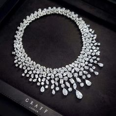 New from the Graff workshop, this eye watering multi shape diamond necklace totalling 164.02 carats of pure joy!