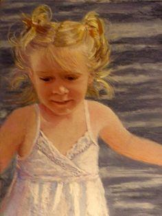 pastel paintings, portraits, fine art, children,