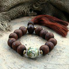 Bodhi seed wrist mala bracelet - look4treasures on Etsy, $34.95