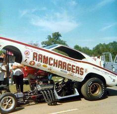 Ramchargers Challenger. #OldSchoolNHRA