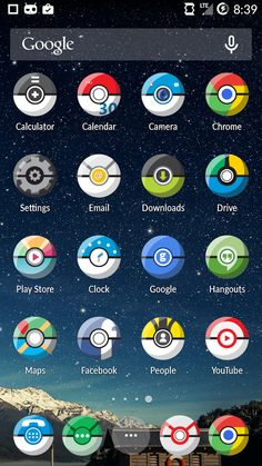 An icon pack that turns your apps into monster balls. Android Icons, Free Android, Android Apps, Google Hangouts, Free Icon Packs, Google Play, Geek Stuff, Map, Geek Things