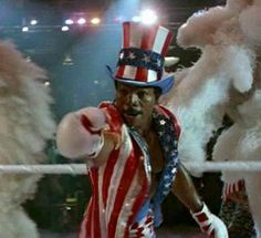 Carl Weathers as Apollo Creed in Rocky IV Rocky Balboa, Rocky Series, Rocky Film, Sylvester Stallone, Creed Quotes, Bald Men Style, Apollo Creed, Carl Weathers, Love Film
