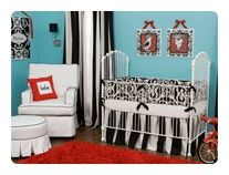 Blue and red nursery