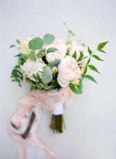 Elegant blush peony bouquet: http://www.stylemepretty.com/2016/05/23/ethereal-garden-party-style-wedding/ | Photography: Jose Villa - http://josevilla.com/
