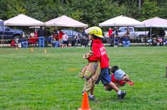Firefighter muster games at Danforth Bay's annual Firefighter Appreciation Weekend in Freedom, NH.
