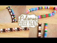 Pulsera de flores con Perler Beads ( Ideal para los más peques) - YouTube