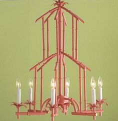 Bamboo Chandelier...better in this pink!