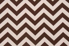 Premier Prints Zig Zag Drapery Fabric in Village Brown/Natural