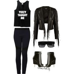 Untitled #38 by glamandcity on Polyvore featuring polyvore, fashion, style, Balmain, Pierre Balmain, Givenchy and CÉLINE