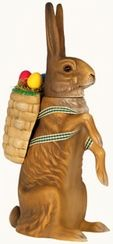 Legendary Easter Bunny Paper Mache Candy Container