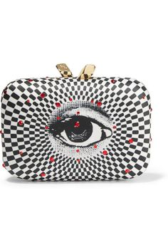 Kotur Morley embellished printed satin clutch