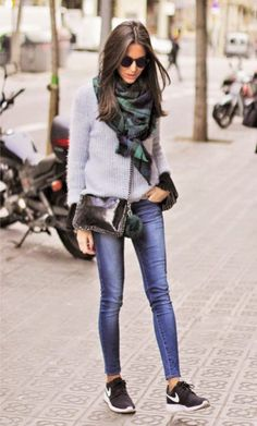 New Style Street Casual Chic Fall Winter Ideas Casual Chic, Chic Chic, Nike Outfits, Outfits Mujer, Jean Outfits, Winter Mode Outfits, Winter Fashion Outfits, Fall Outfits, Casual Outfits