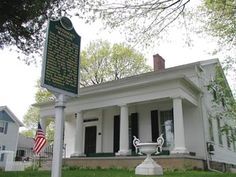 The Governor's Mansion in Marshall, Michigan was built in 1839 in the Greek Revival style before Michigan became a state.