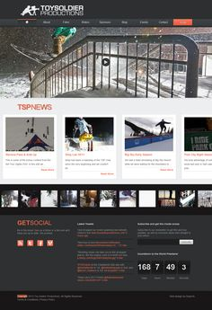 Nice layout and color: toysoldier productions website