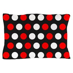 Red And White Polka Dots Pillow Case on CafePress.com