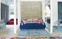 Luke Irwin, contemporary rug designer's showroom
