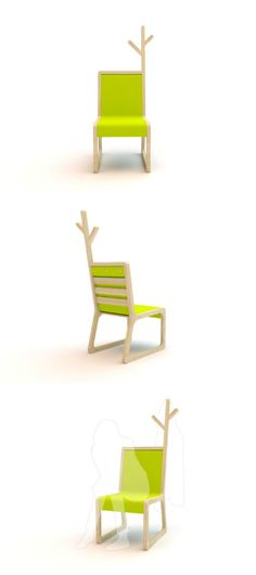 What do you use chair for? Sitting and hanging clothes? Exactly, therefore Mexico designer – Christian Vivanco designed this multifunctional chair