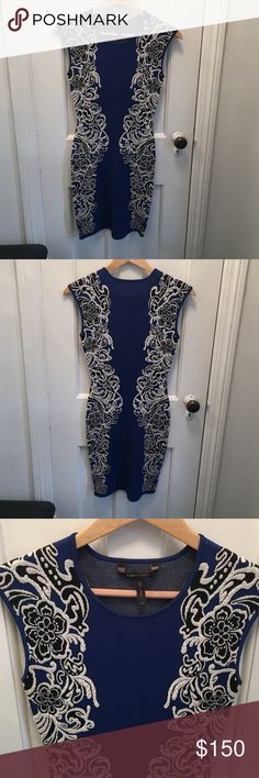 BCBG MAXAZRIA DRESS It is very details dress.  Great for special occasions. BCBG Dresses Midi