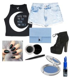 """""""hate you to the moon and back"""" by nanupacu on Polyvore featuring moda, MANGO, Breckelle's, Dora, Mary Kay y T. LeClerc"""