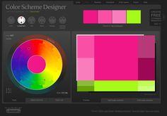 Cool color design web site.