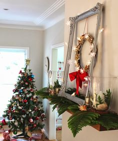 How to Style a Coastal Christmas Mantel
