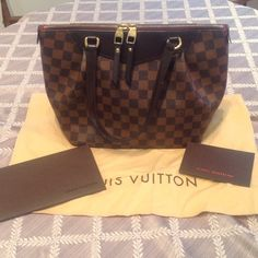Authentic Westminster PM Damier This bag is so adorable! I am having a hard time parting but I am trying to downsize my closet. 100% authentic. #SD3131. Overall, great condition. Pictures reflect. There's a small stain on the inside. I do not trade nor use pp. please do not ask, I follow all posh rules. Comes with dust bag and what's shown. Purchased Louis Vuitton store. Louis Vuitton Bags