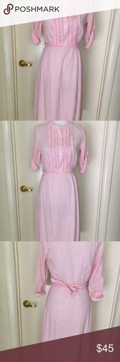 JCrew Pink Pastel Dress Size 4 JCrew Pink Pastel & White Striped Dress Size 4 Excellent condition- never worn NWOT J. Crew Dresses